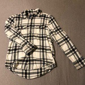 Women's American Eagle Flannel (Whiteblack) Size:S